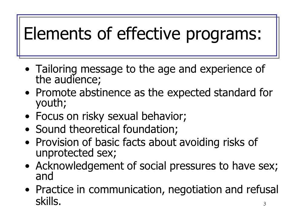 Elements of effective programs: