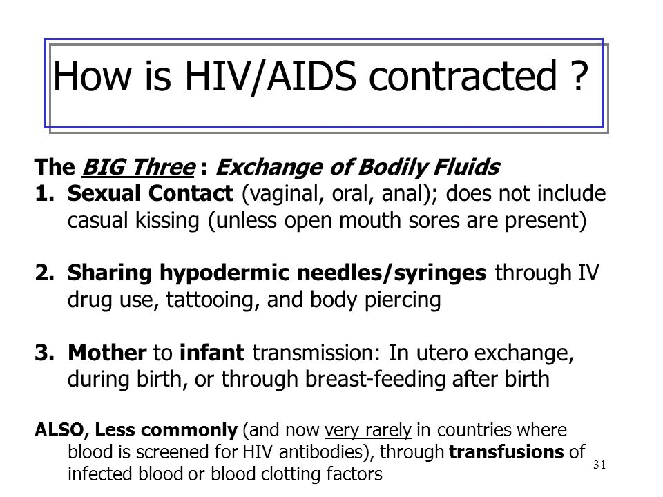 How is HIV/AIDS contracted