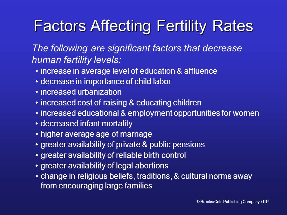 factors influencing fertility and mortality in developing and developed countries Crs report for congress prepared for members and committees of congress the us infant mortality rate: international comparisons, underlying factors, and federal.