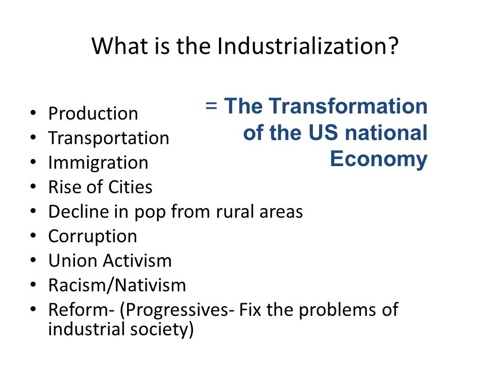 the effects of industrialization on the us economy Industrialization brought with it countless positive and negative effects products were cheaper, cities flourished, and more jobs were available on the flipside, child labor and poor working conditions were two very real issues courtesy of industrialization.