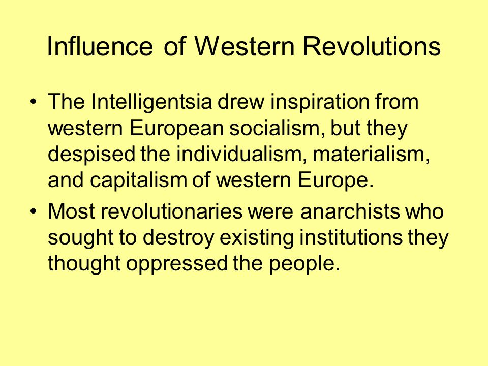 Influence of Western Revolutions
