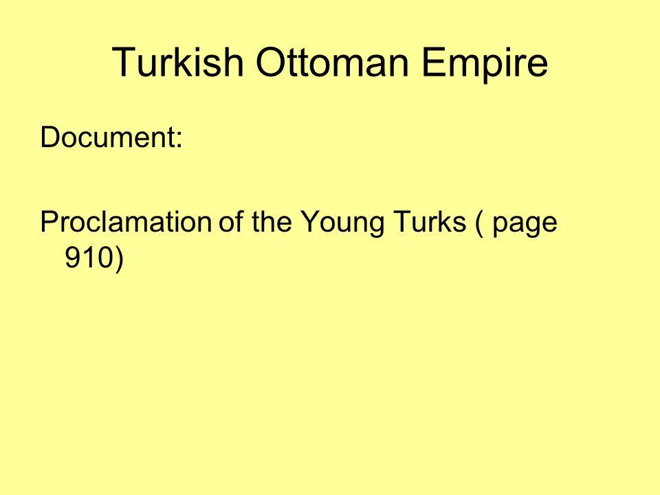 Turkish Ottoman Empire