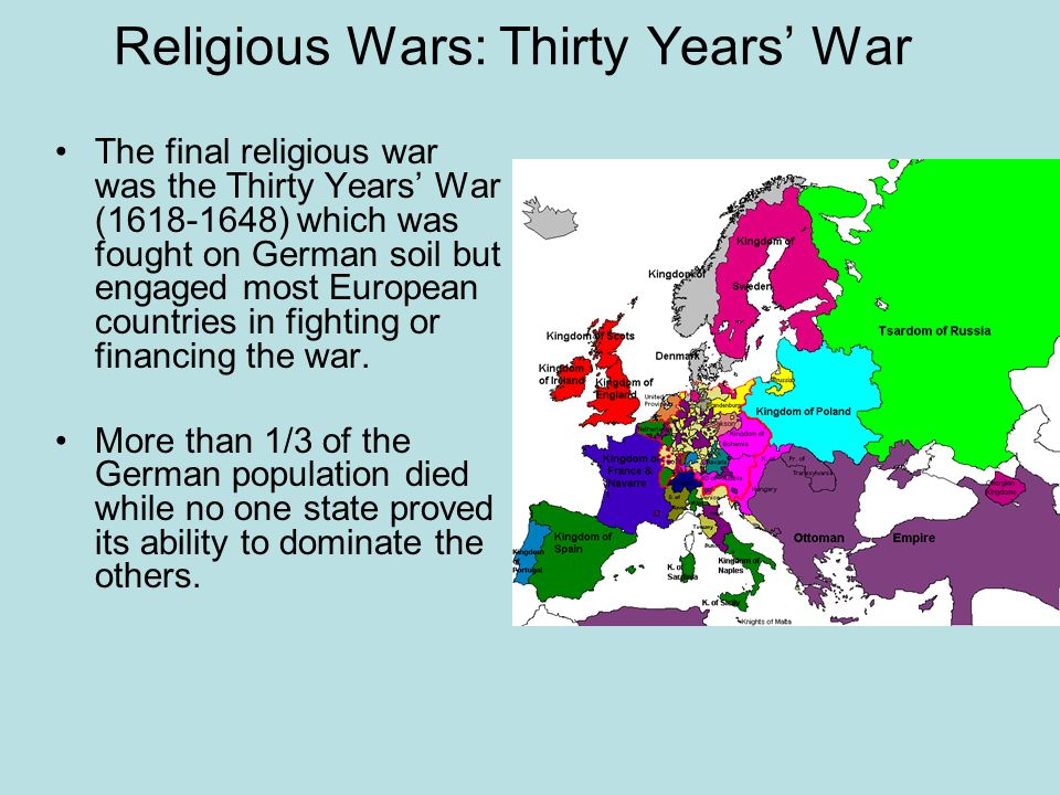 Religious Wars: Thirty Years' War
