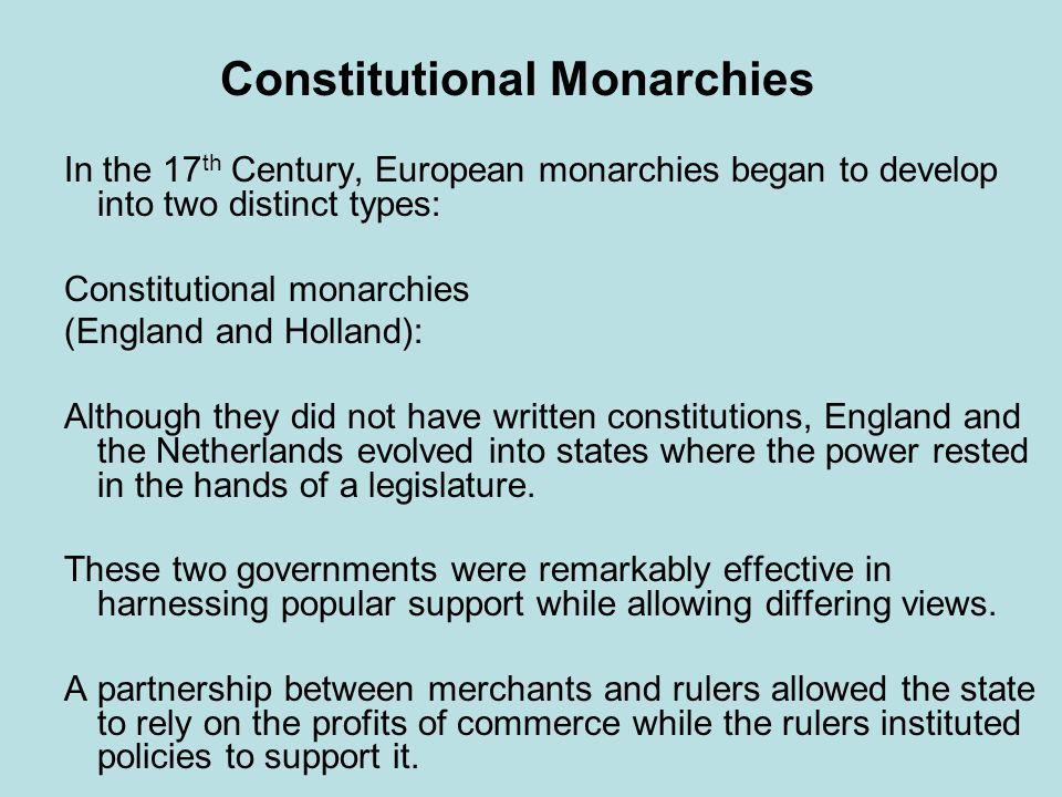 Constitutional Monarchies