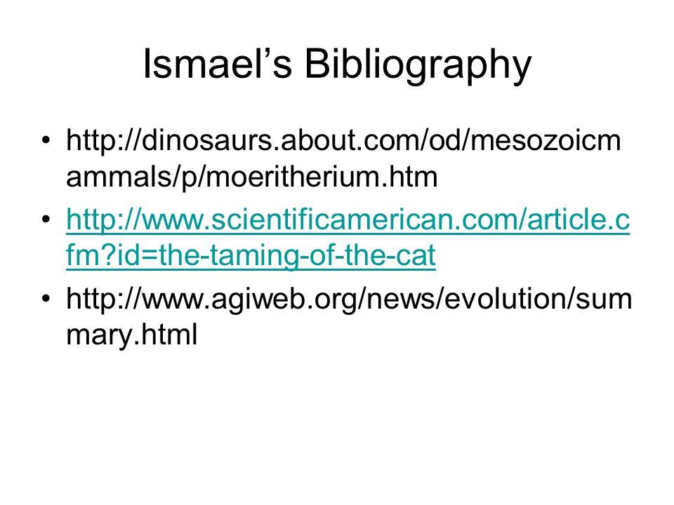 Ismael's Bibliography