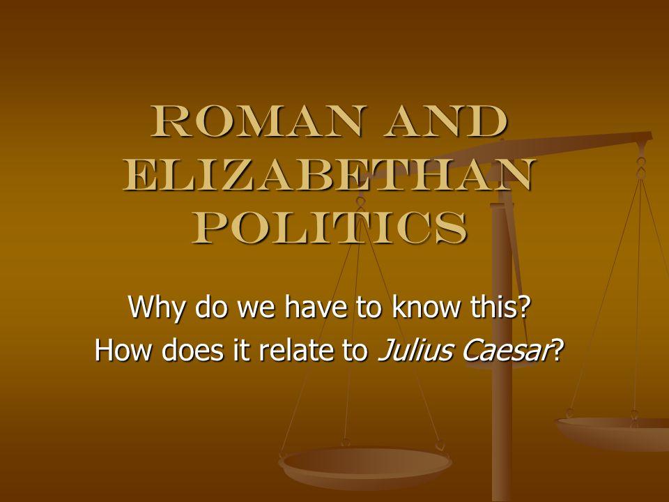 Roman and Elizabethan Politics
