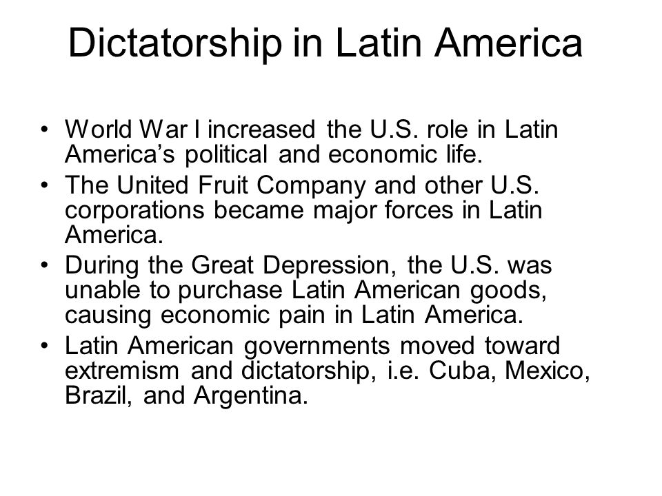 Dictatorship in Latin America