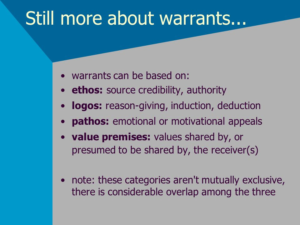 Still more about warrants...