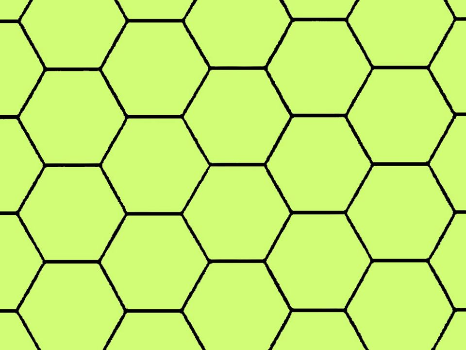 Here is what we have if we expand the area: a network of market areas consisting of regular hexagons continuously covering an isotropic surface.