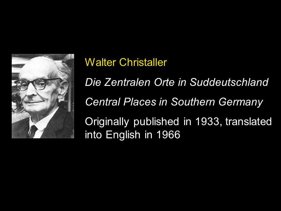 Die Zentralen Orte in Suddeutschland