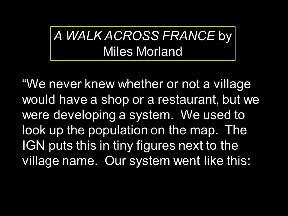 A WALK ACROSS FRANCE by Miles Morland