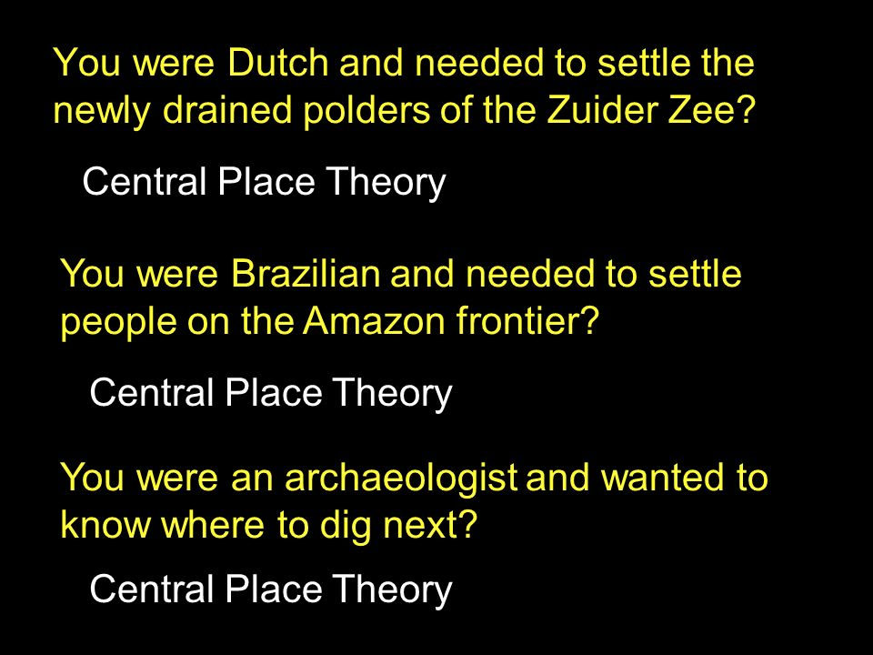 You were Brazilian and needed to settle people on the Amazon frontier