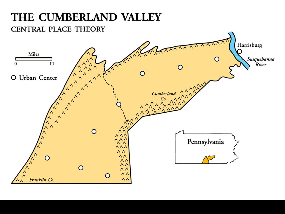 The Cumberland Valley of Pennsylvania is a portion of the Great Valley of the Appalachians.