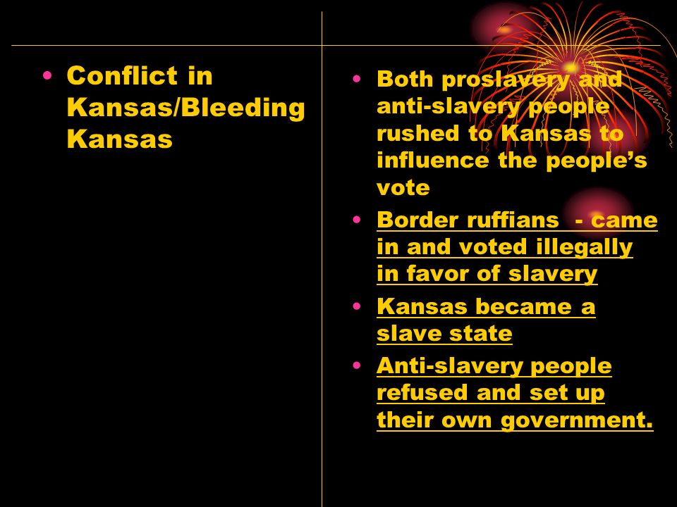 Conflict in Kansas/Bleeding Kansas