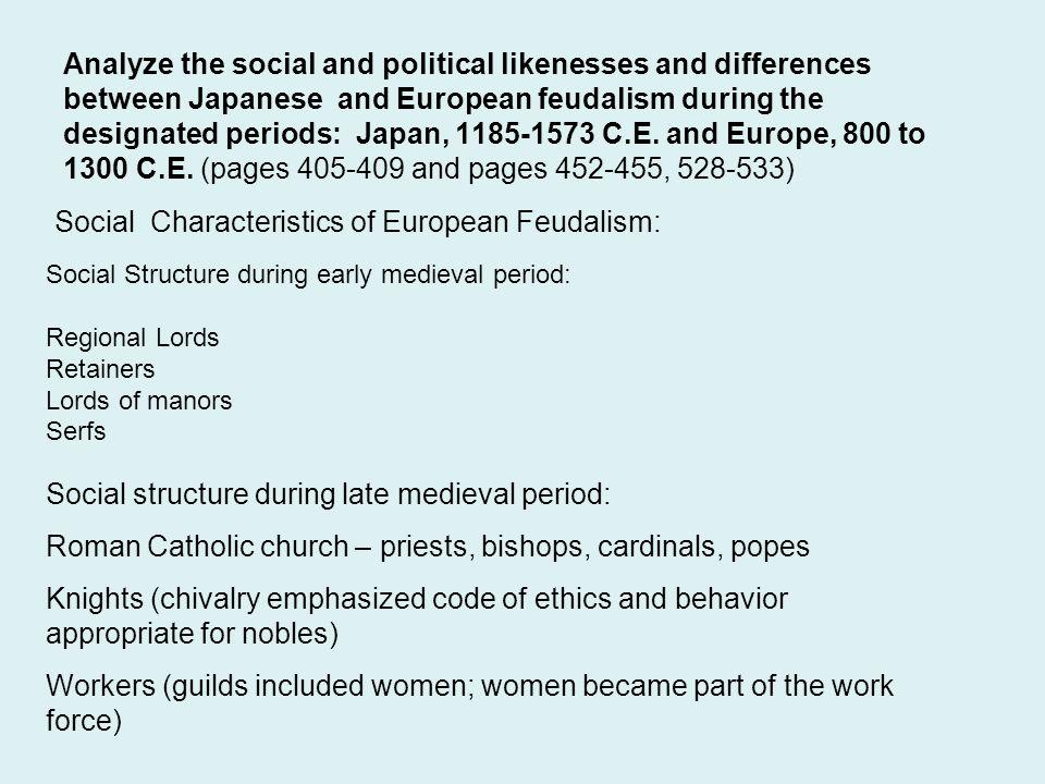 Social Characteristics of European Feudalism: