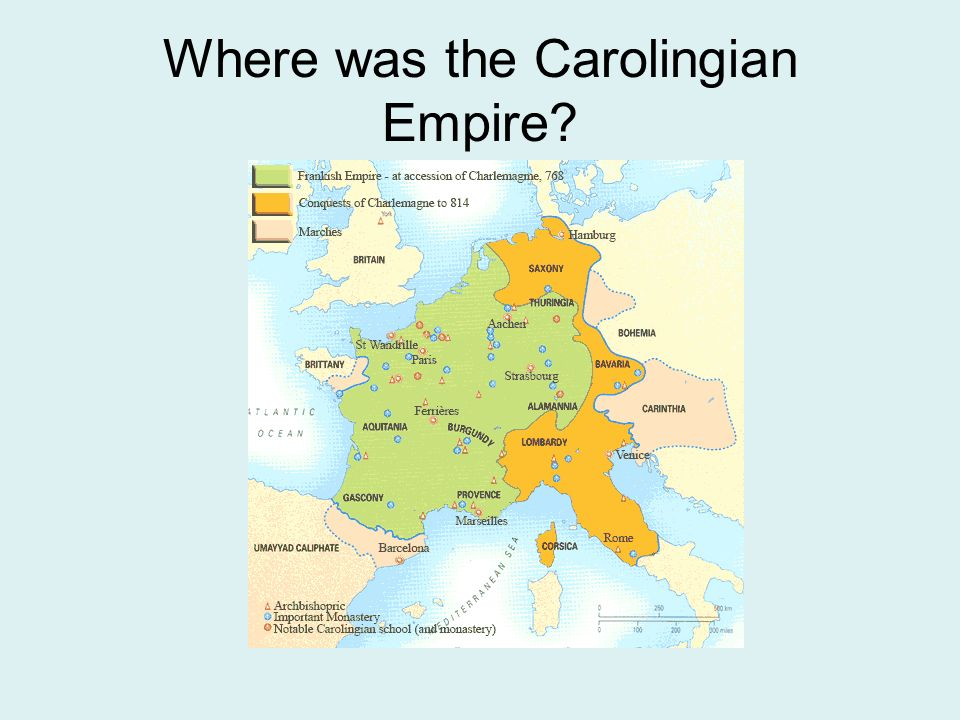 Where was the Carolingian Empire