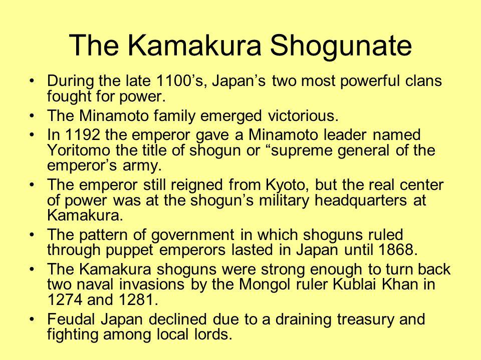 The Kamakura Shogunate