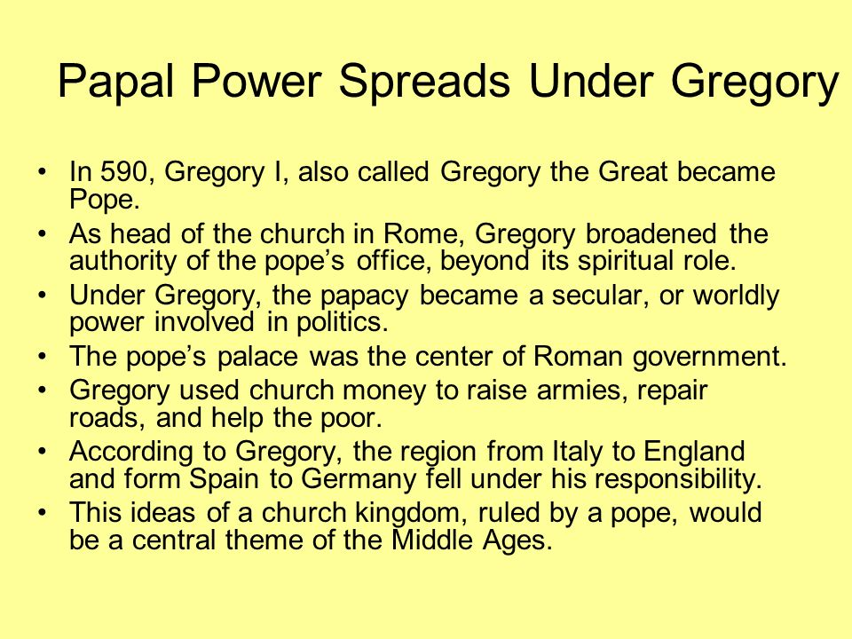 Papal Power Spreads Under Gregory