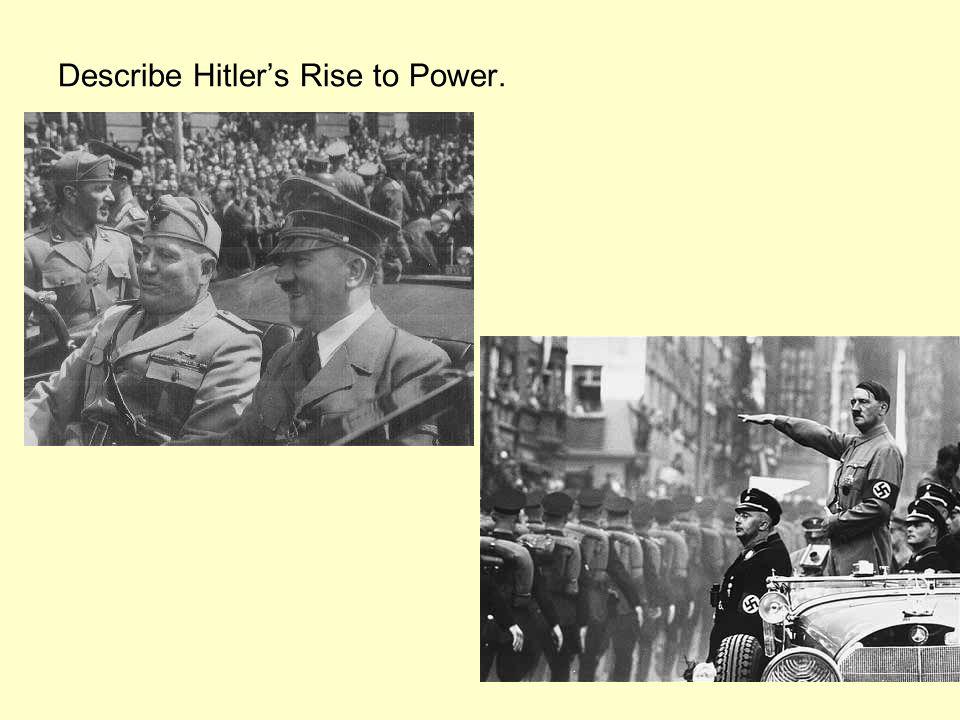 Describe Hitler's Rise to Power.
