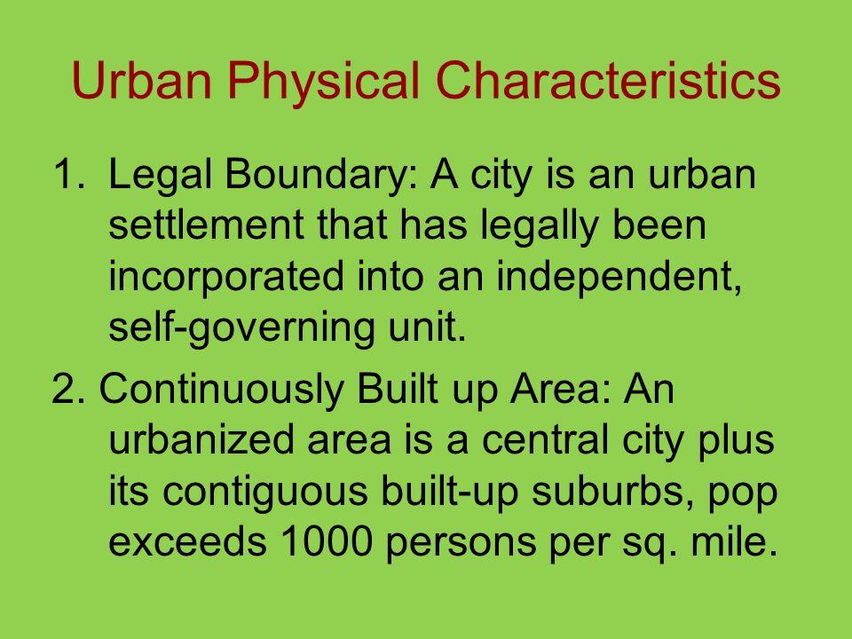 Urban Physical Characteristics