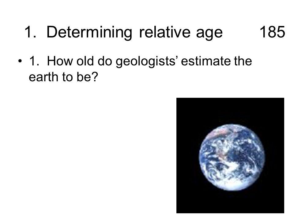 1. Determining relative age 185