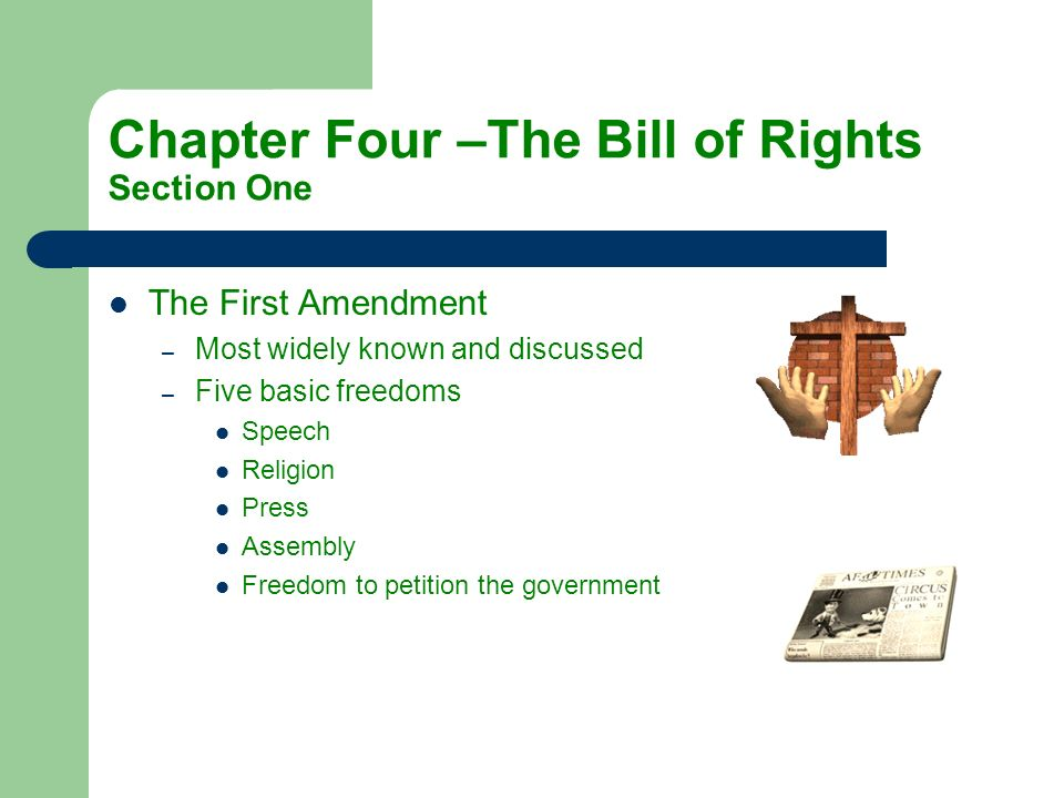 Chapter Four –The Bill of Rights Section One