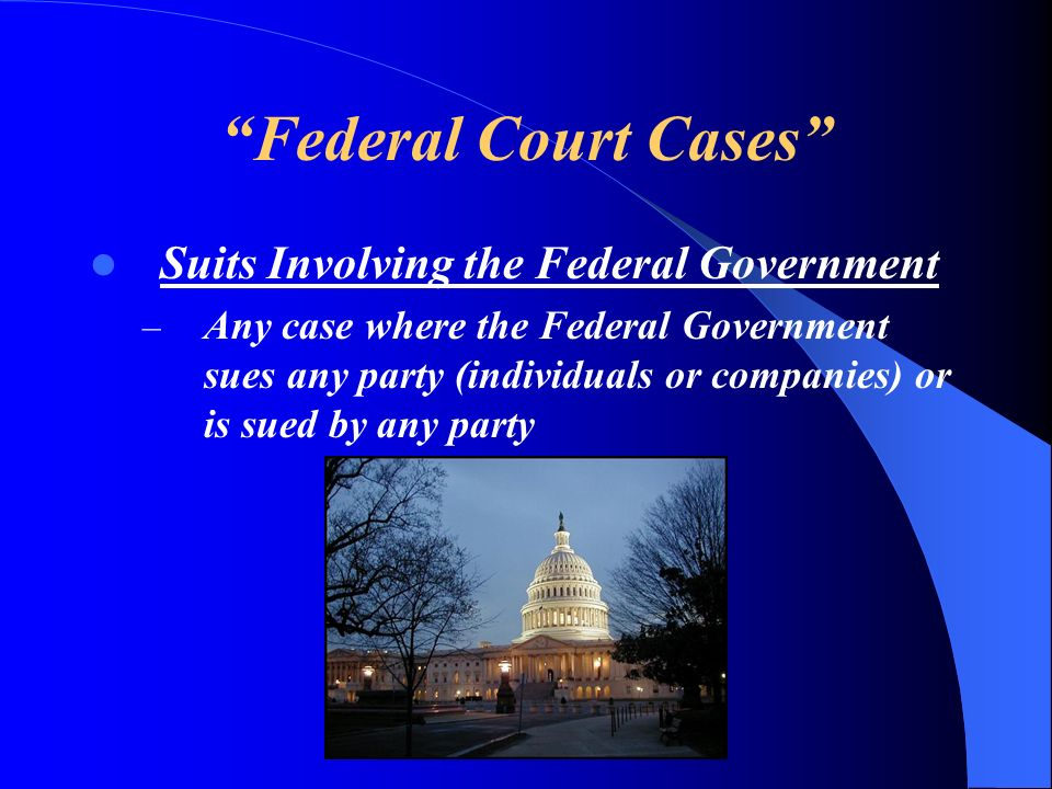 Federal Court Cases Suits Involving the Federal Government