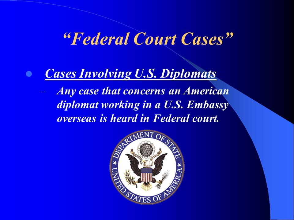 Federal Court Cases Cases Involving U.S. Diplomats