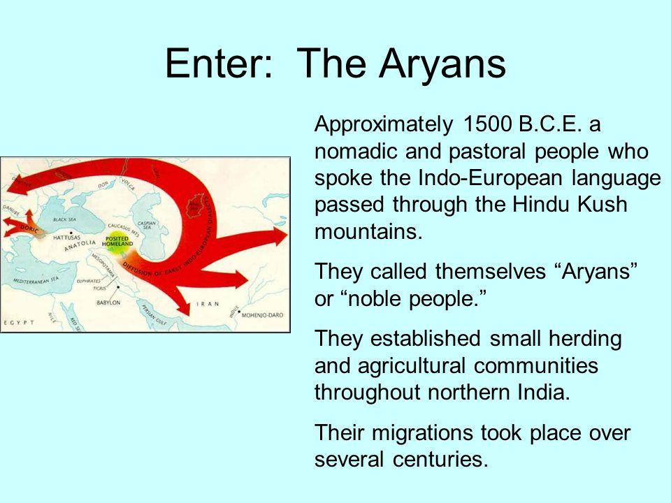 Enter: The Aryans