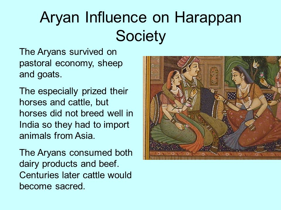 Aryan Influence on Harappan Society