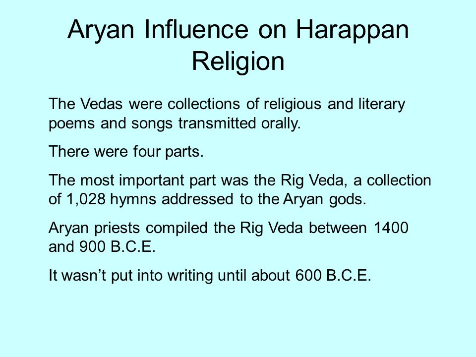 Aryan Influence on Harappan Religion