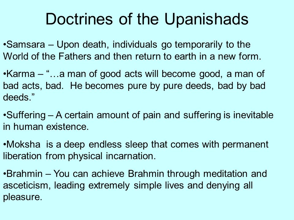 Doctrines of the Upanishads