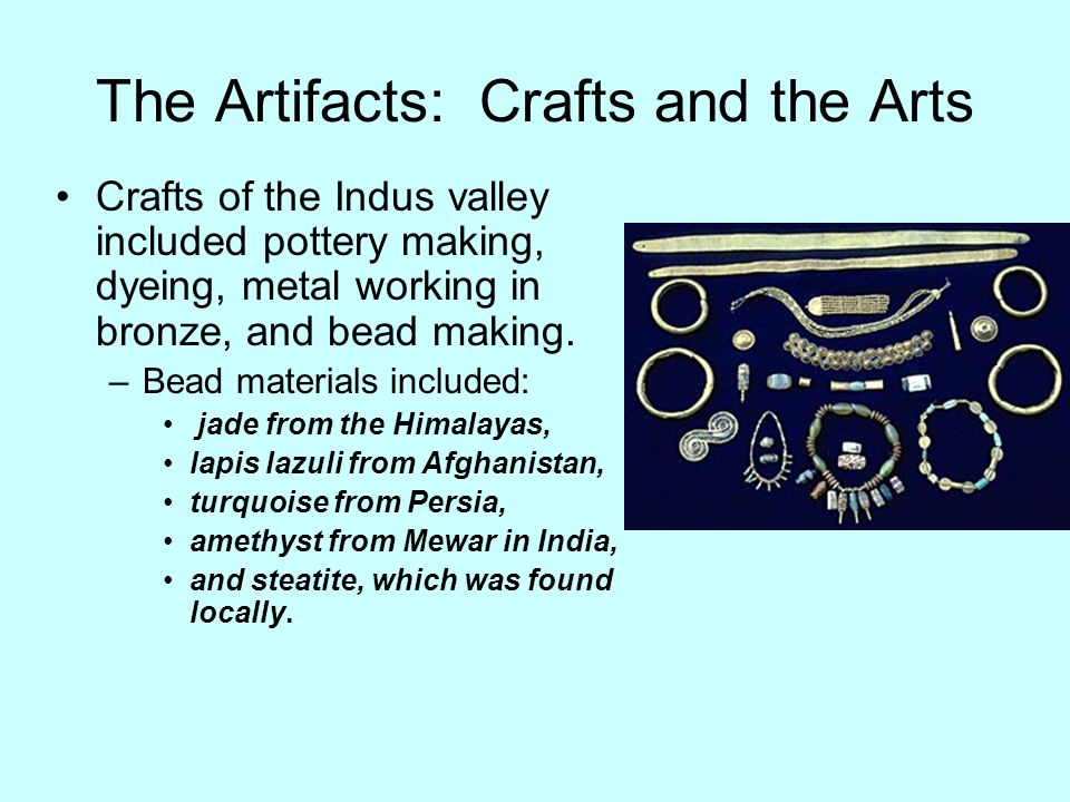 The Artifacts: Crafts and the Arts