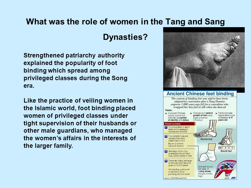 What was the role of women in the Tang and Sang Dynasties