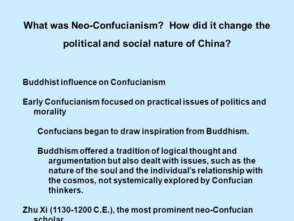 What was Neo-Confucianism