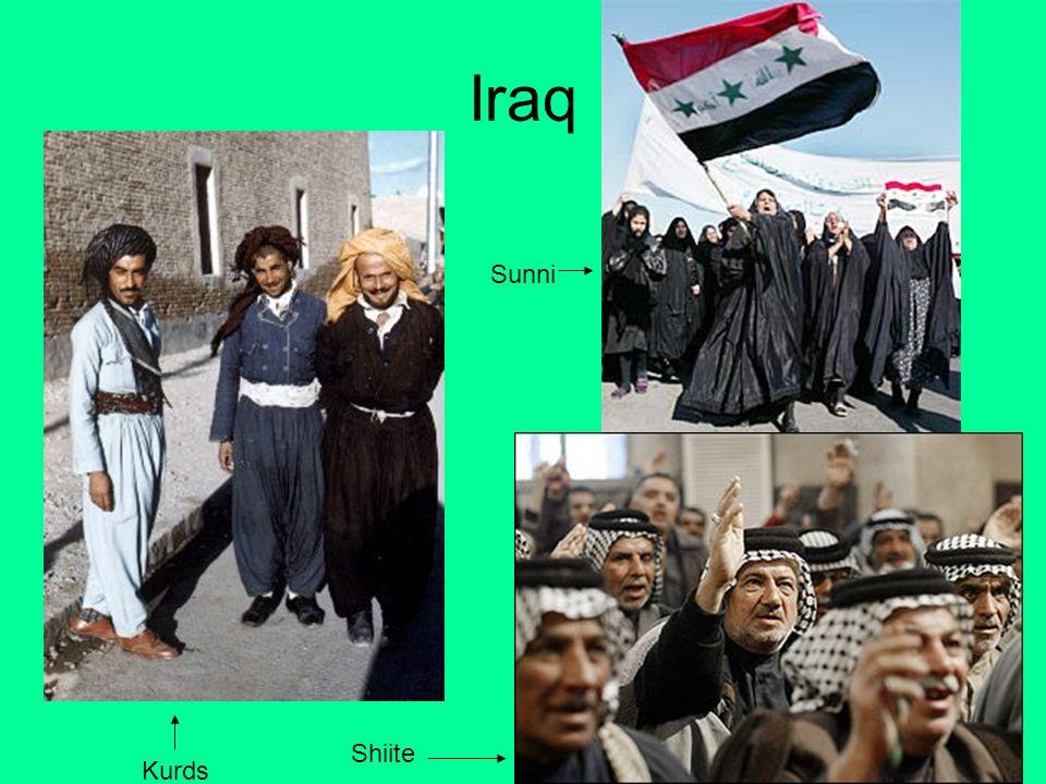 Iraq Sunni Shiite Kurds