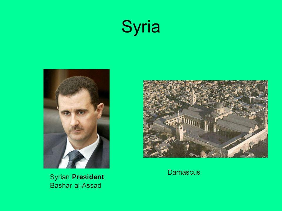 Syria Damascus Syrian President Bashar al-Assad