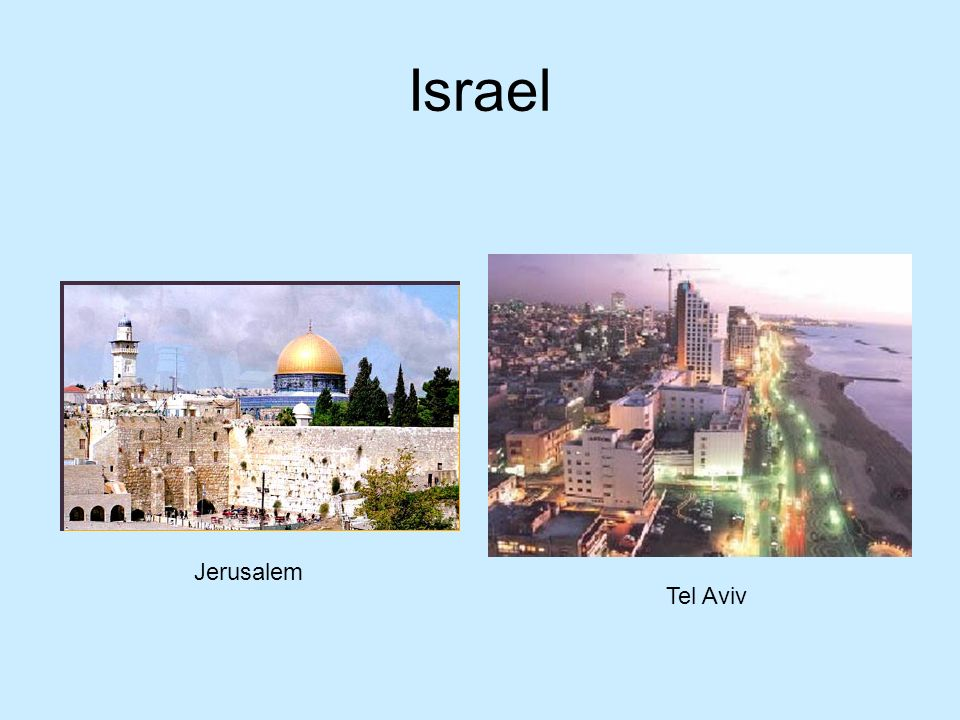 Israel Jerusalem Tel Aviv