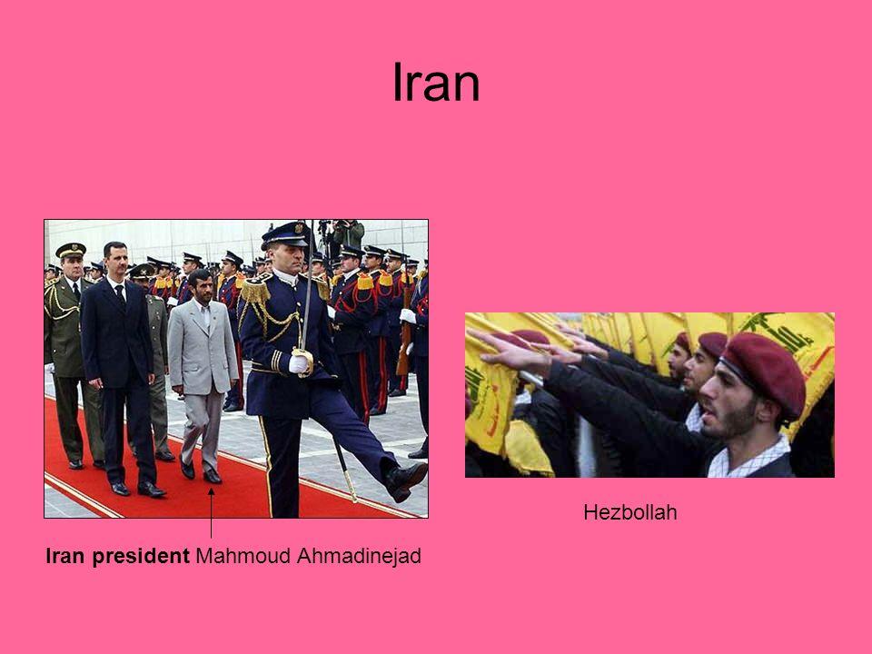 Iran Hezbollah Iran president Mahmoud Ahmadinejad