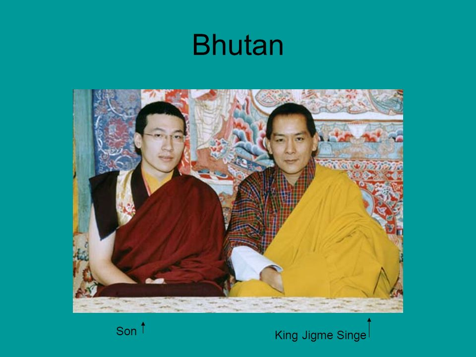Bhutan Son King Jigme Singe