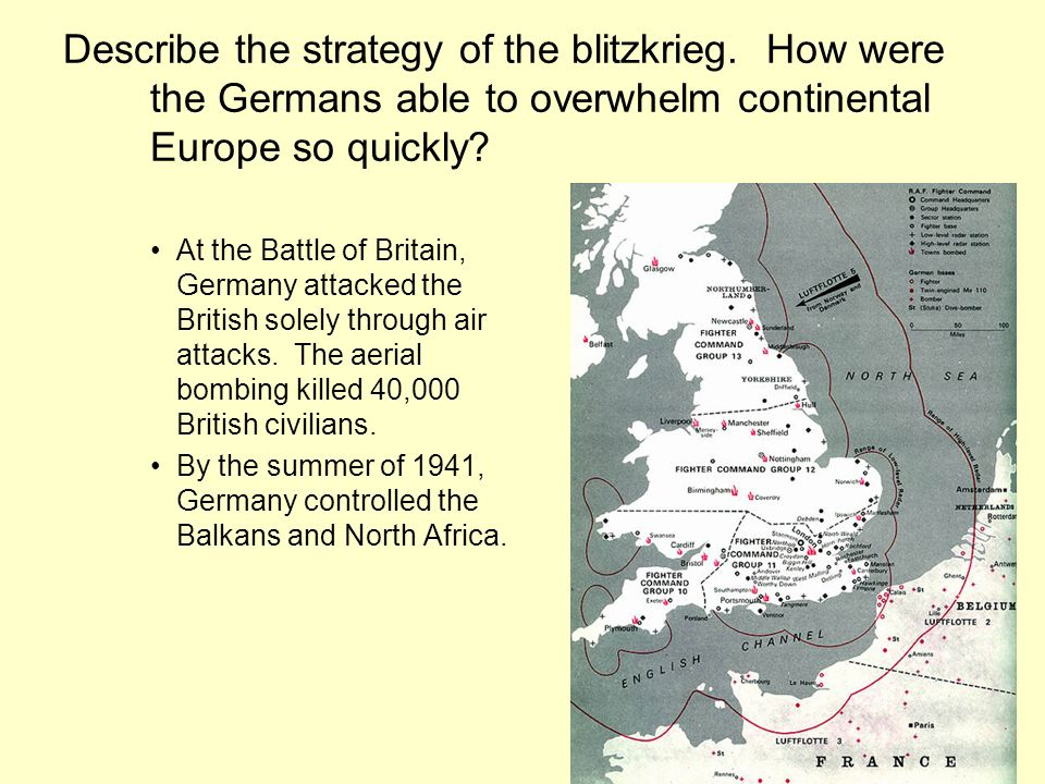 Describe the strategy of the blitzkrieg