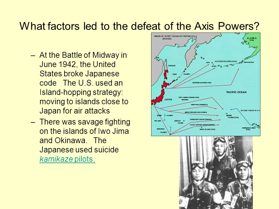 What factors led to the defeat of the Axis Powers