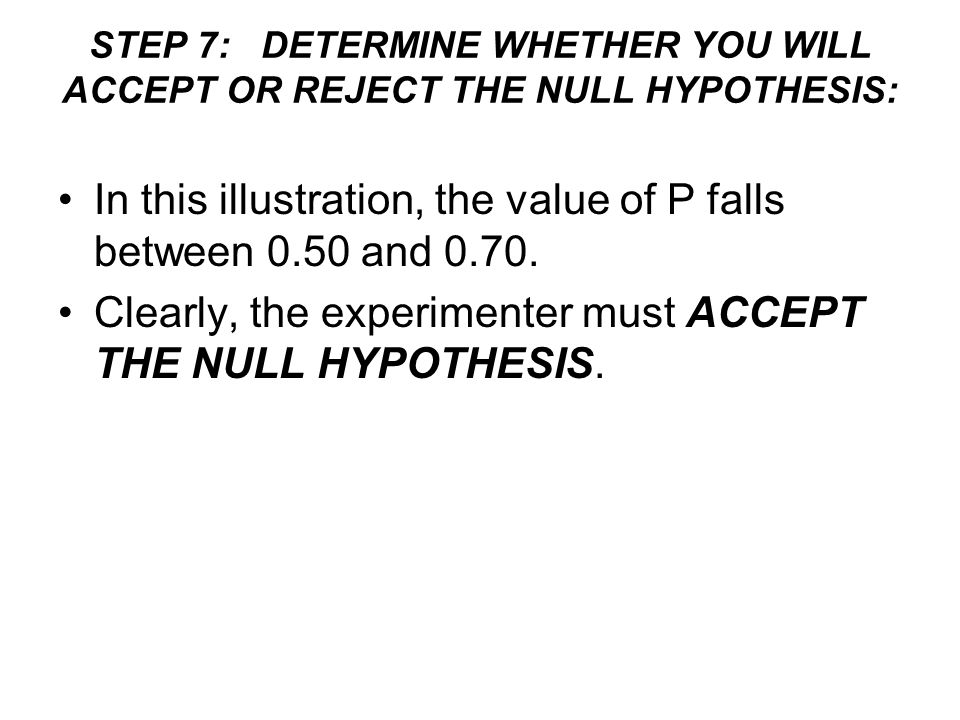 In this illustration, the value of P falls between 0.50 and 0.70.