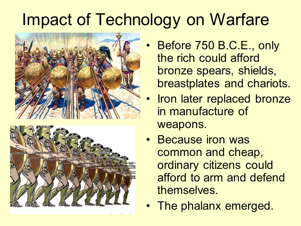 Impact of Technology on Warfare