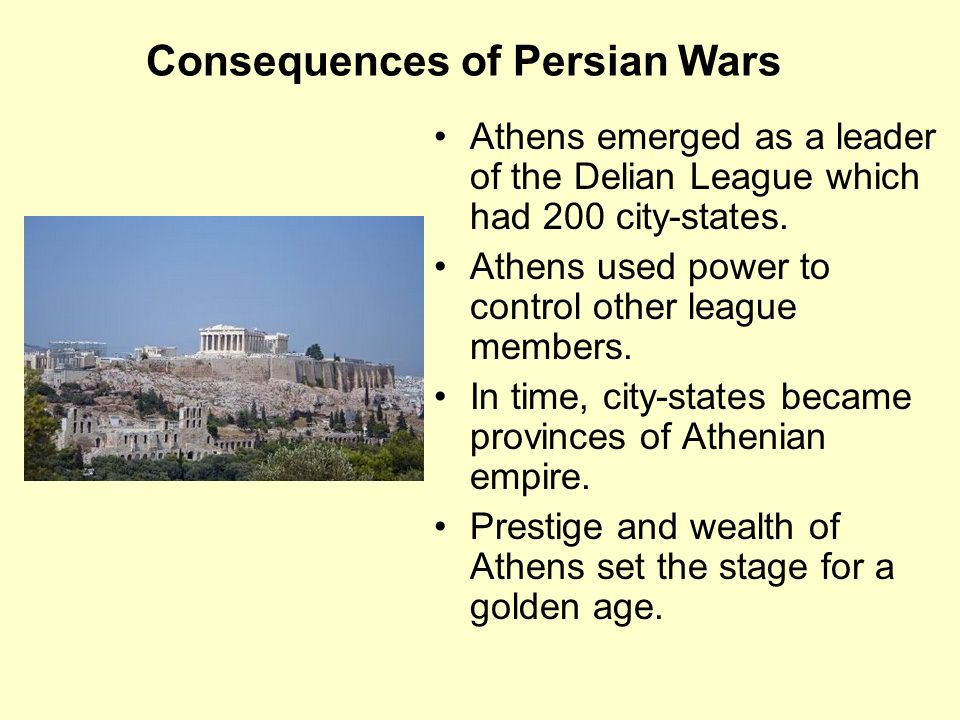 Consequences of Persian Wars