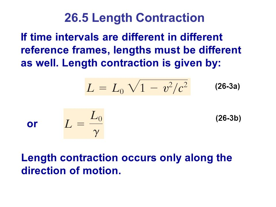 26.5 Length Contraction