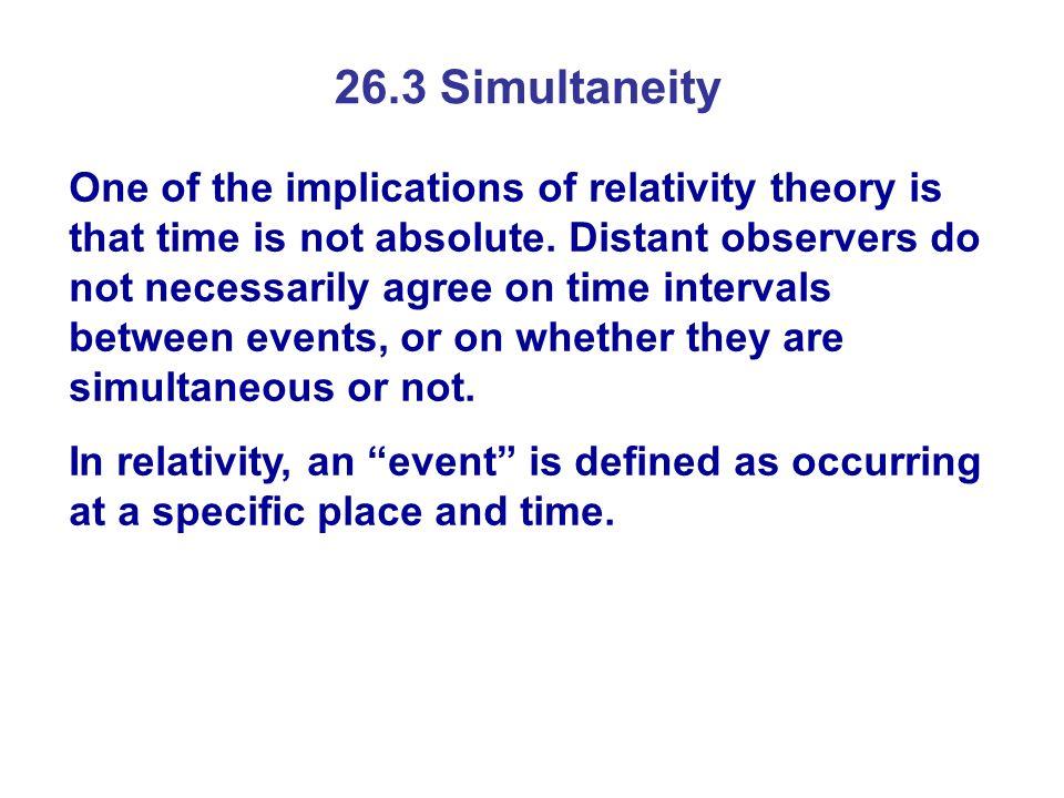 26.3 Simultaneity
