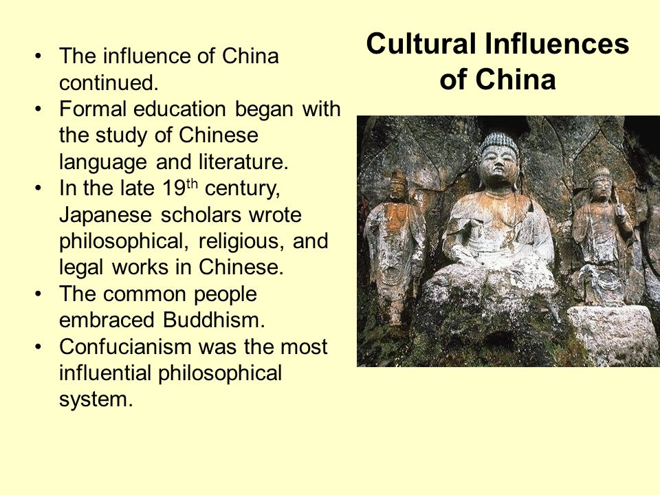 Cultural Influences of China