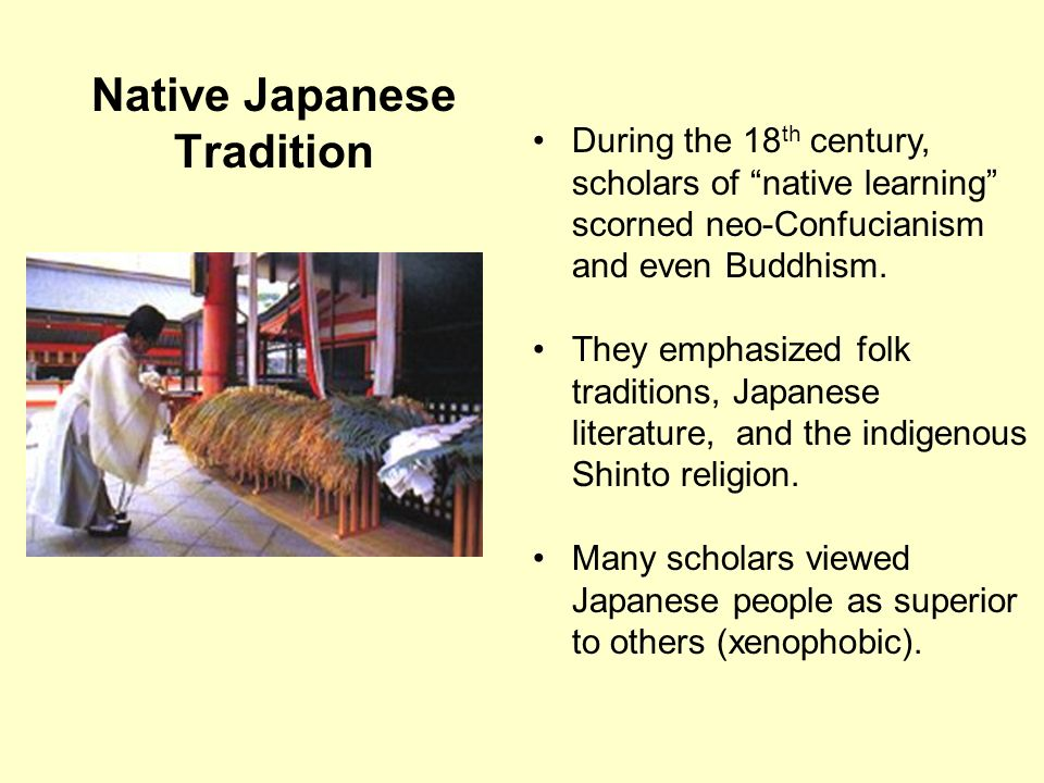 Native Japanese Tradition