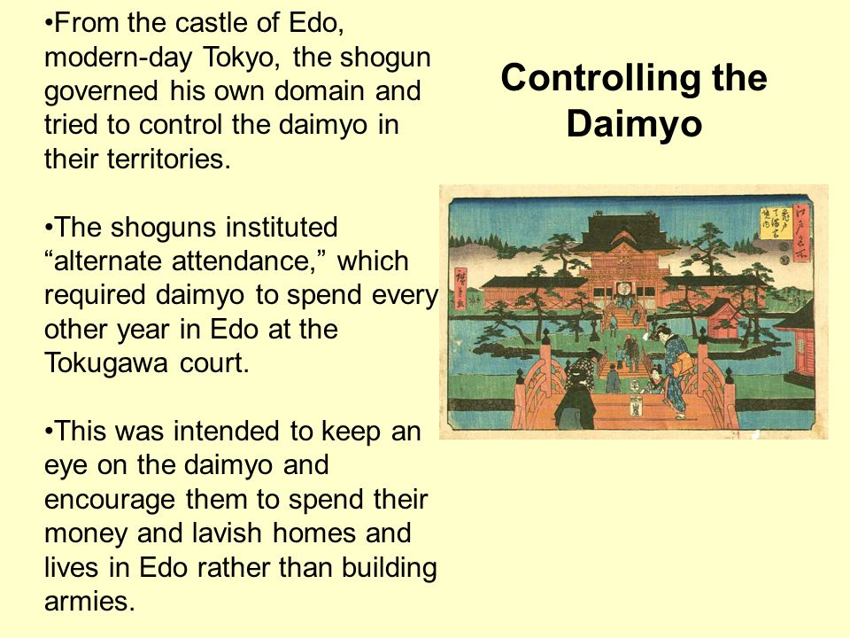Controlling the Daimyo